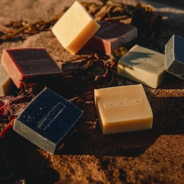 hemp soap on beach